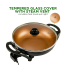 Ovente Electric Skillet 13 Inch with Non Stick Aluminum Coating Body and Adjustable Temperature Controller, Frying Pan with Tempered Glass Cover and Cool-Touch Handles, Copper (SK3113CO)